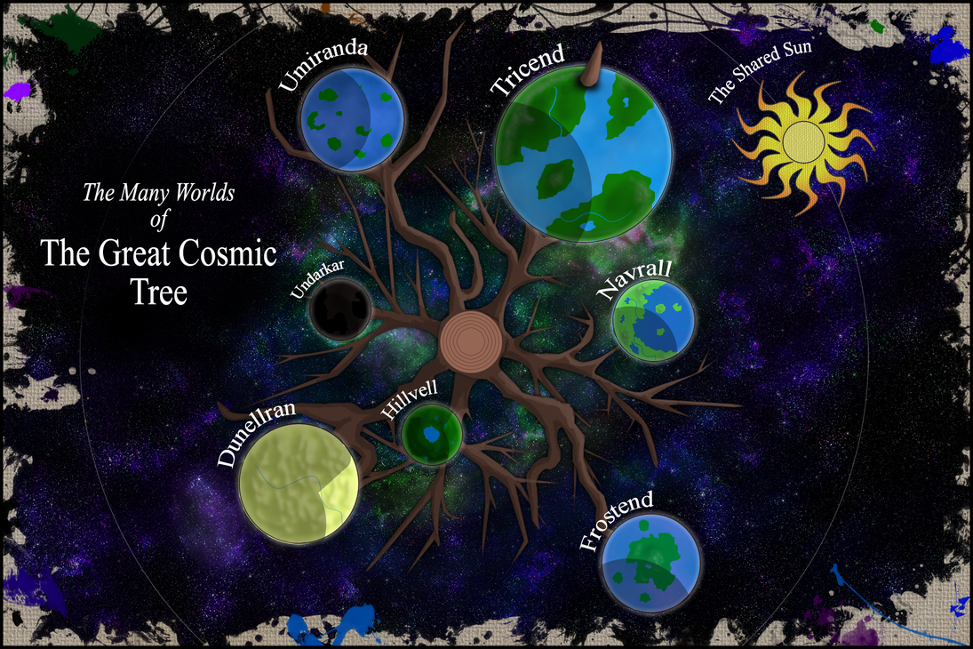 The Many Worlds of The Great Cosmic Tree by ConfusedTotoro