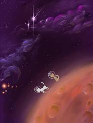 Cats on Mars by krazedkazoo