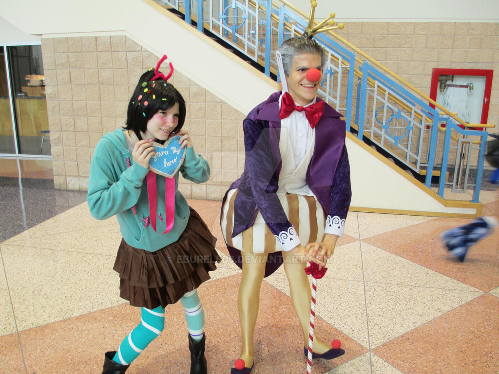 King Candy and Vanellope by eburel506 on DeviantArt Vanellope And King Candy
