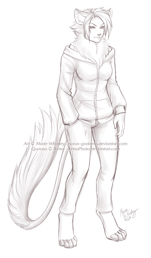 Sketch Comm - Quoosa by Horus-Goddess