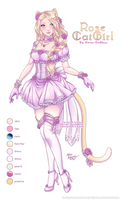 [Adopt Auction: CLOSED] Rose Catgirl by Horus-Goddess