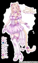 [Adopt Auction: CLOSED] Rose Catgirl