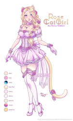 [Adopt Auction: CLOSED] Rose Catgirl by Horus-Goddess