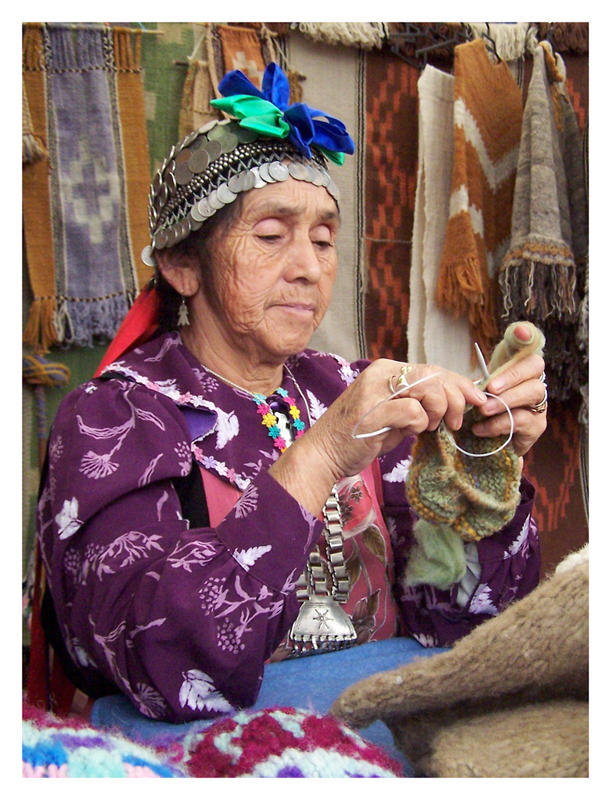 Mujer mapuche a color by Deneb on DeviantArt