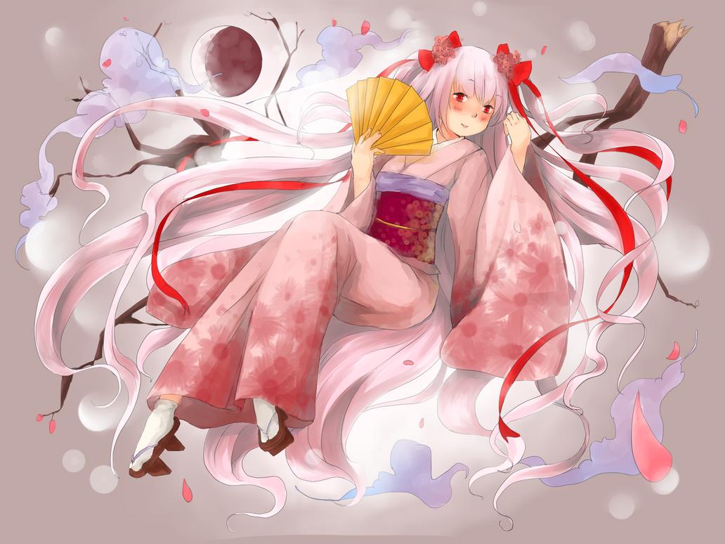 Ike Kazuko Sakura Moon by Queen-of-Butterflies