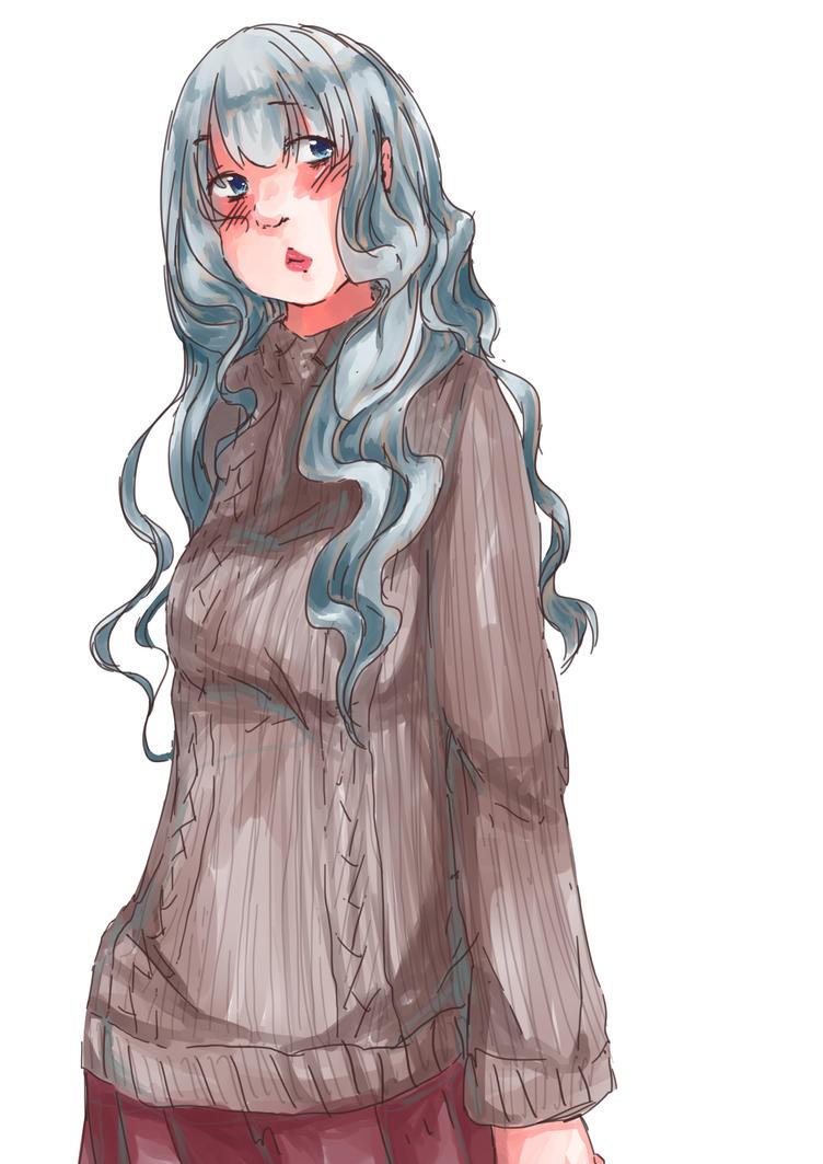 Doodle girl by Queen-of-Butterflies