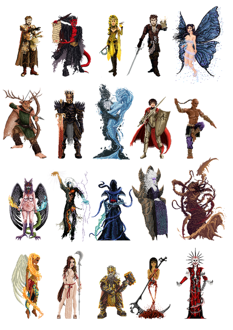 Golarion Gods by Sergio37