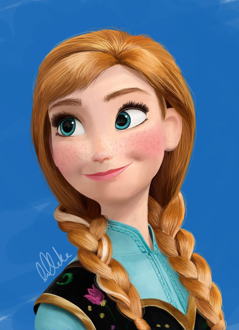 Anna from disney 39 s frozen by clarkey lou on deviantart - Frozen anna disney ...