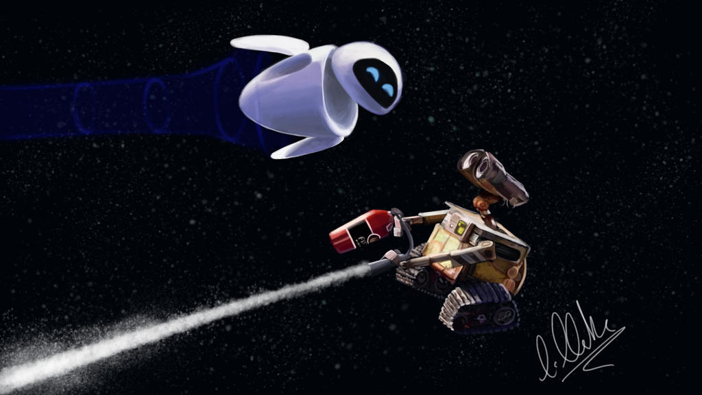 WALL-E and EVE by clarkey-lou