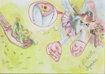 Bet Apple Jack and Rainbow Dash. You lose, Rainbow by Agnesika