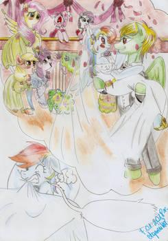 Bad dream-Rainbow Dash and Zephyr (wedding day) by Agnesika
