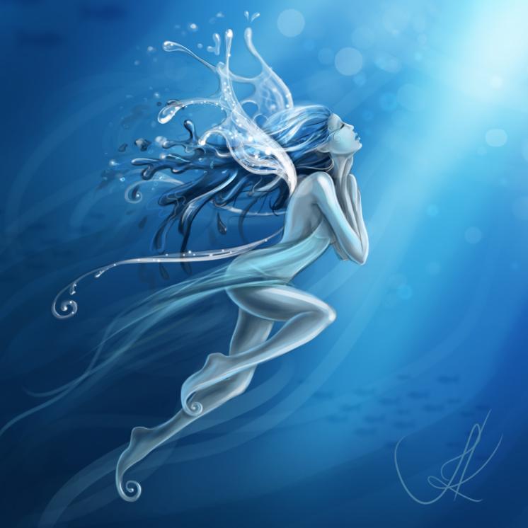 water fairy wallpaper beautiful - photo #7