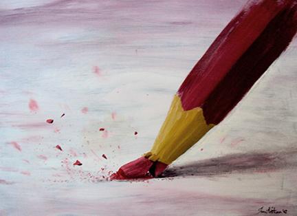 Studium of broken pencil by ilo-ka