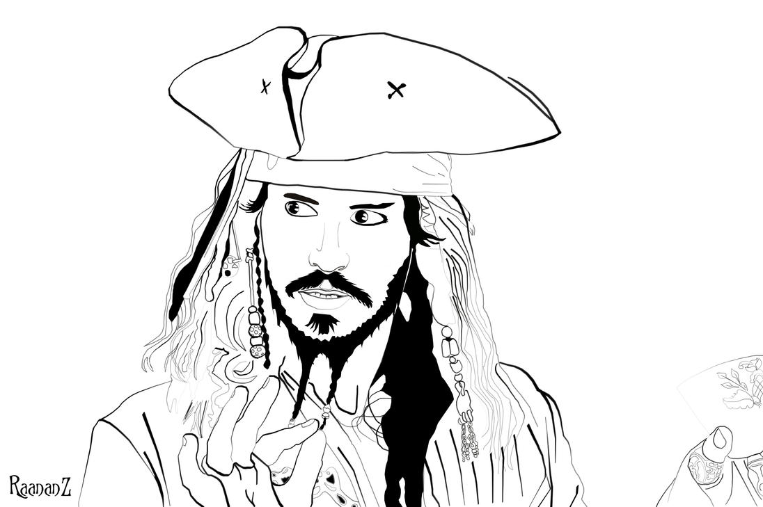 Jack sparrow coloring pages - crazywidow.info