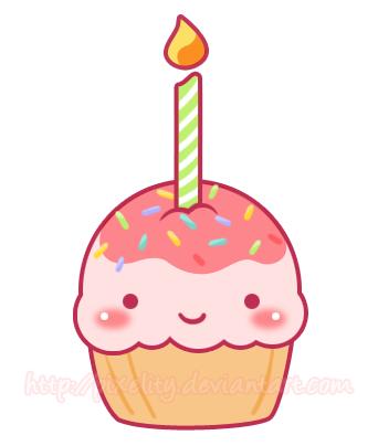 Happy Birthday Cupcake by pixelity