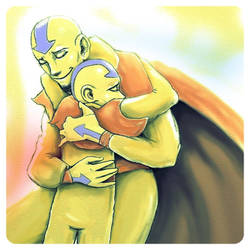 Aang and Tenzin by shazam26