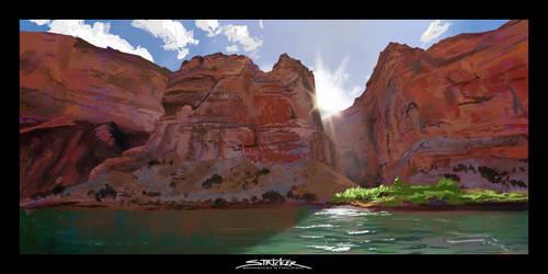 Virtual Plein Air- Colorado River