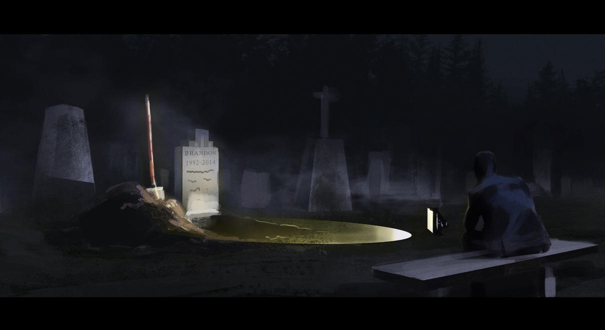 Silent Cemetery- Speed Painting by BrandonStricker