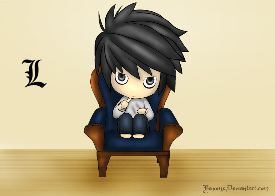 Death Note: Chibi L by winter-kid on DeviantArt