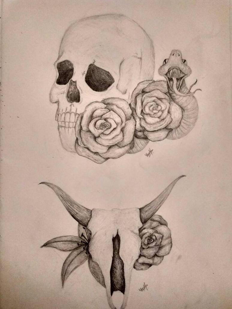 Skull Tattoo Designs #1 by yasminxsarah