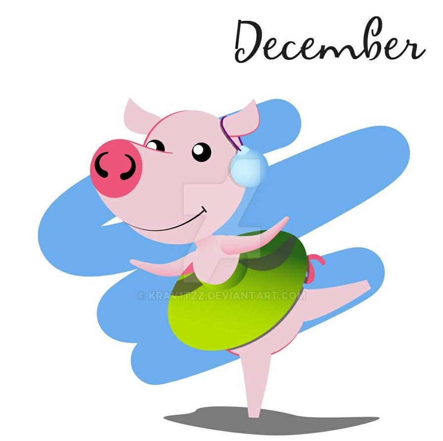 Piggy for every month in 2019 December by Krav1tzz