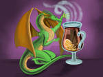 Dragon and mulled wine