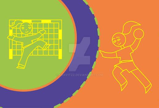 Handball girl concept