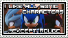 Sonic Characters Stamp by MasterGallade