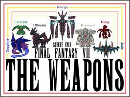 1st Ever FFVII WEAPON Sprites by MasterGallade