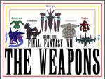 1st Ever FFVII WEAPON Sprites