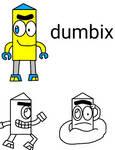Mixels - dumbix in StripeOfficialArt style
