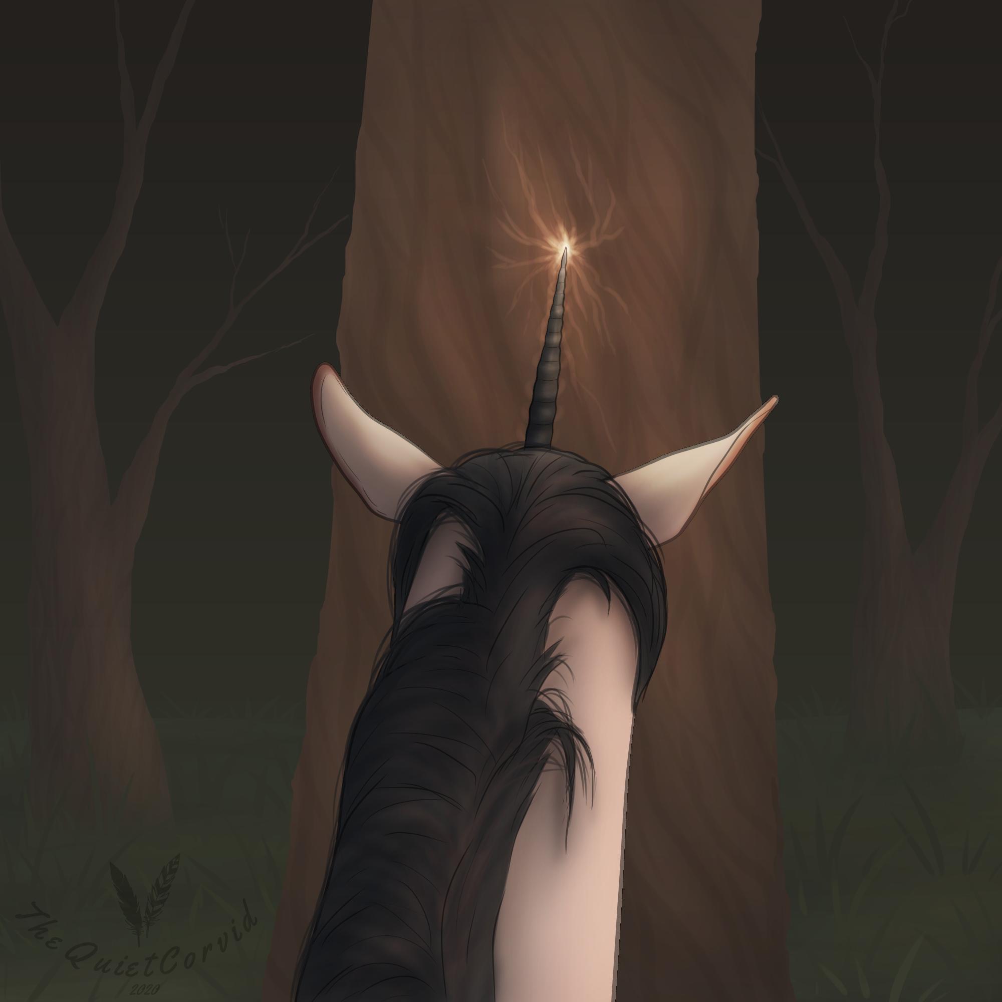 Spooktober   Day 3 - Unicorn