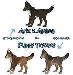 WoLF   Arix x Althea Puppy Tryouts   OPEN by TheQuietCorvid