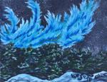 Blue Aurora Borealis by VoiceInForestShadow