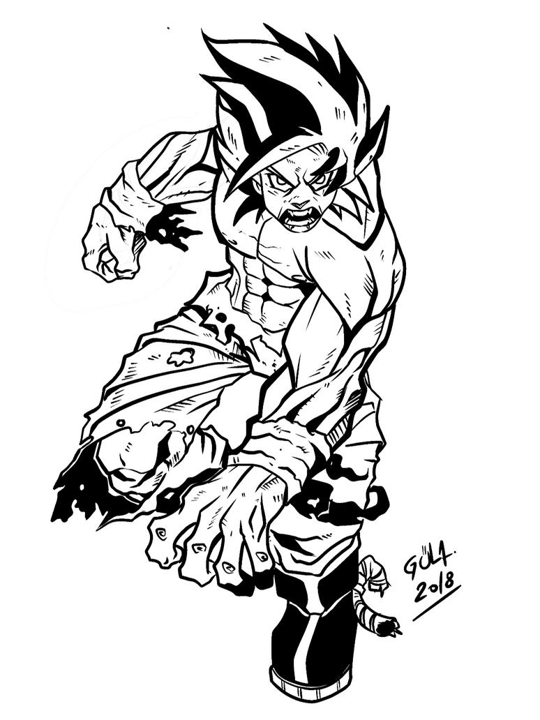 Dragon ball z Goku by guladibujante