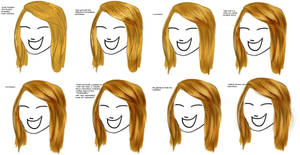 Quick how to draw straight, long hair - Tutorial