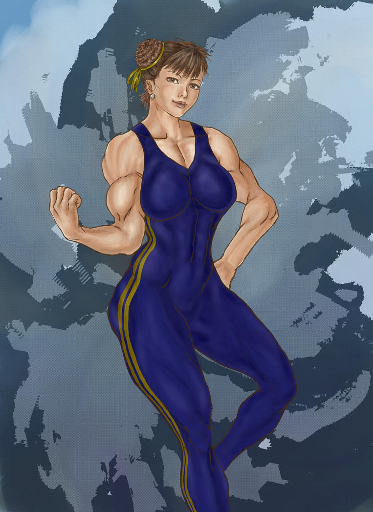 Chun Li Zero suit Commission for Elee by DraserkerX