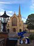 In front of the Norwich Cathedral