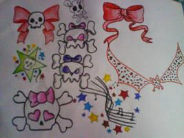 Girly Tattoo Flash by RoxxyBones