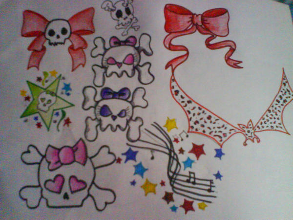 Cute girly flash | Kawaii tattoo, Girly tattoos, Tattoo ...  |Cool Drawings Flash Girly