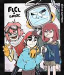 FLCL x Gorillaz Poster