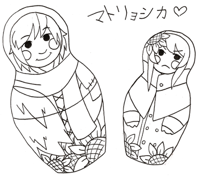 Babushka Dolls by universe-punch
