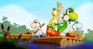 Yoshi Raft by F1fth