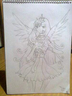 Princess Cadence Human by LinunelAlmed