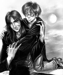 Sirius and Harry by kheelan