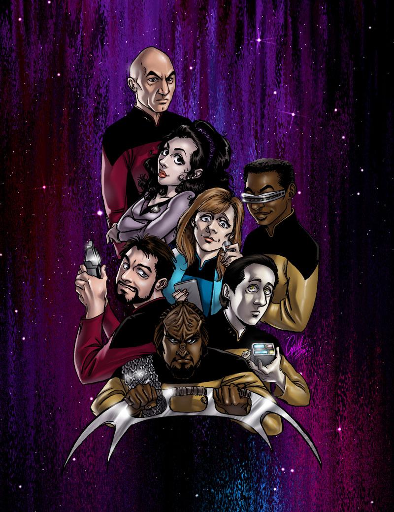 Star Trek TNG manga style by kheelan