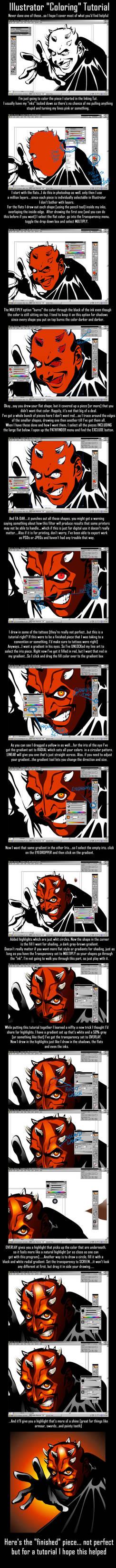 Illustrator Coloring Tutorial