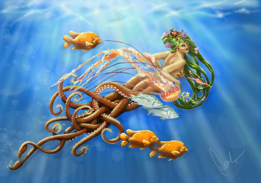 Sea Nymph by DerekTall