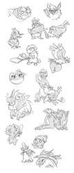 Pokemon Sketchdump by simperingidiot