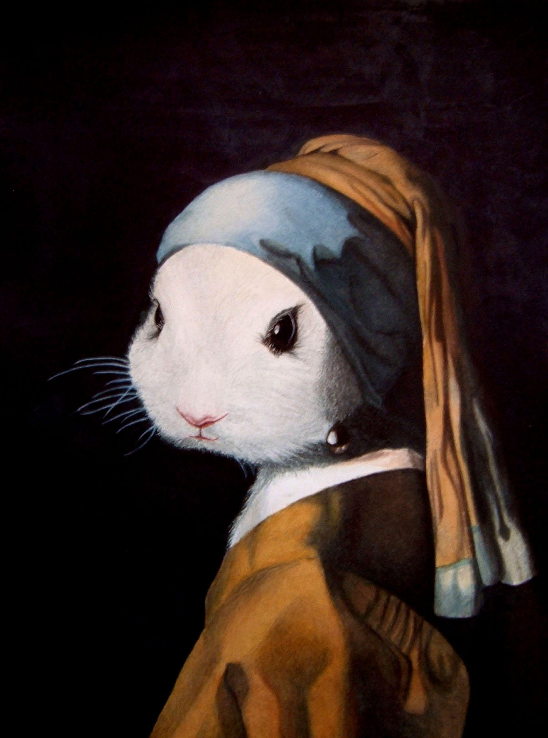 Bunny With A Pearl Earring By Alwong